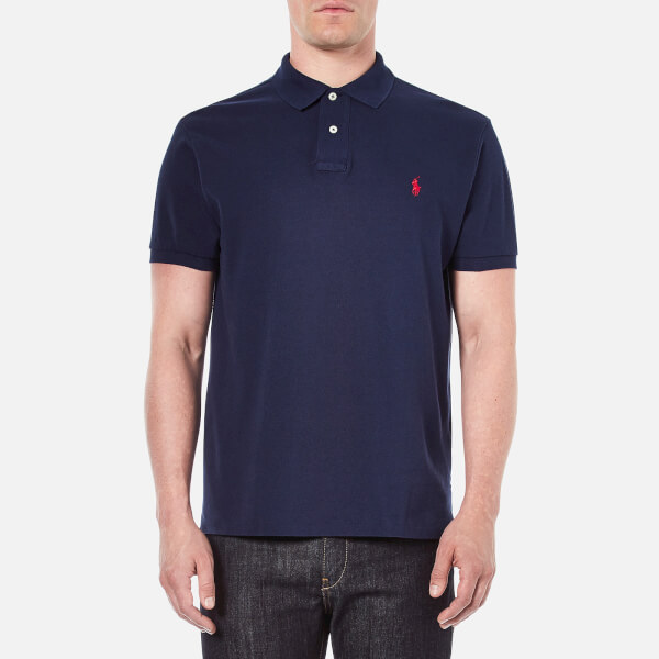 Polo Ralph Lauren Men's Custom Fit Short Sleeved Polo Shirt - Newport Navy