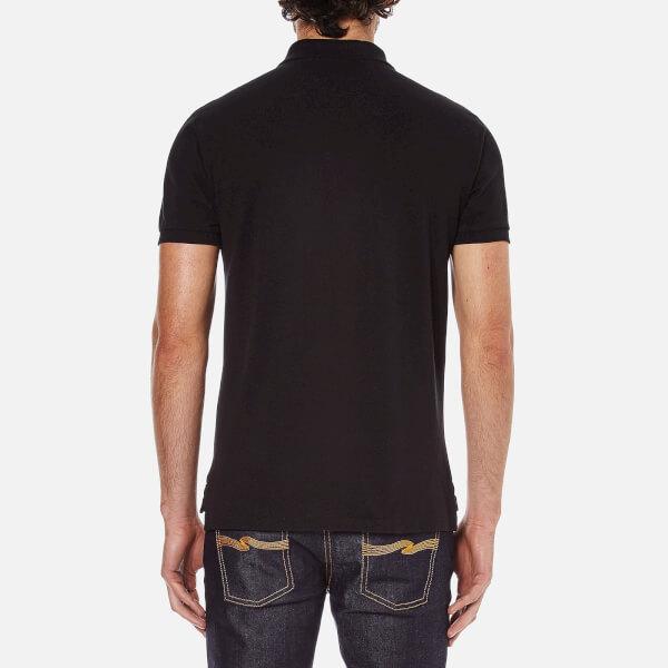 mens dark blue polo shirt ralph lauren slim fit shirt short sleeve