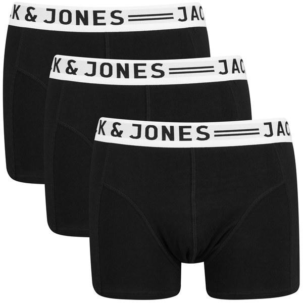 Jack & Jones Men's Sense 3-Pack Boxers - Black: Image 1
