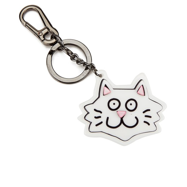 Tiffany Cooper for Karl Lagerfeld Women's TC Choupette Keychain - White