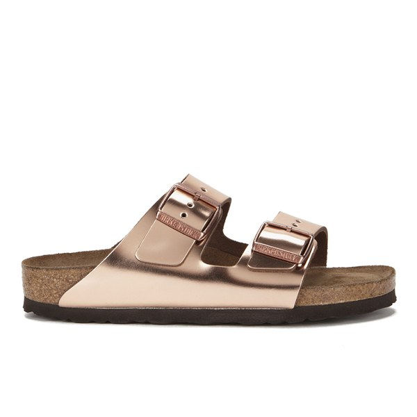e0d2949b726 Birkenstock Women s Arizona Slim Fit Double Strap Leather Sandals - Metallic  Copper
