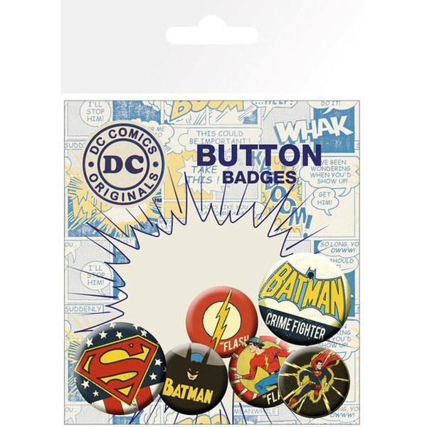 Lot de Badges Rétro - DC Comics