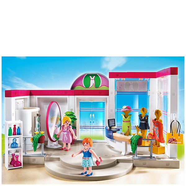 Playmobil shopping centre clothing boutique 5486 toys for Centre boutique
