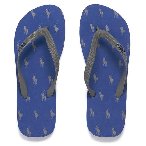 368d37beb48286 Polo Ralph Lauren Men s Hewie II Flip-Flops - Grey Sapphire  Image 1