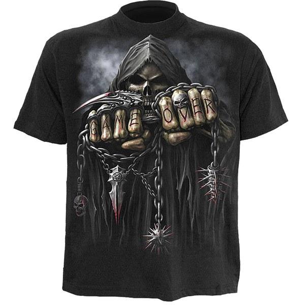 Spiral Men's GAME OVER T-Shirt - Black