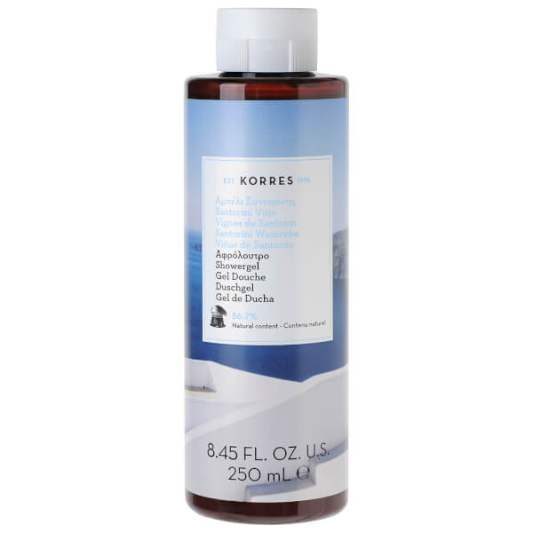 KORRES Santorini Vine Shower Gel (250ml).