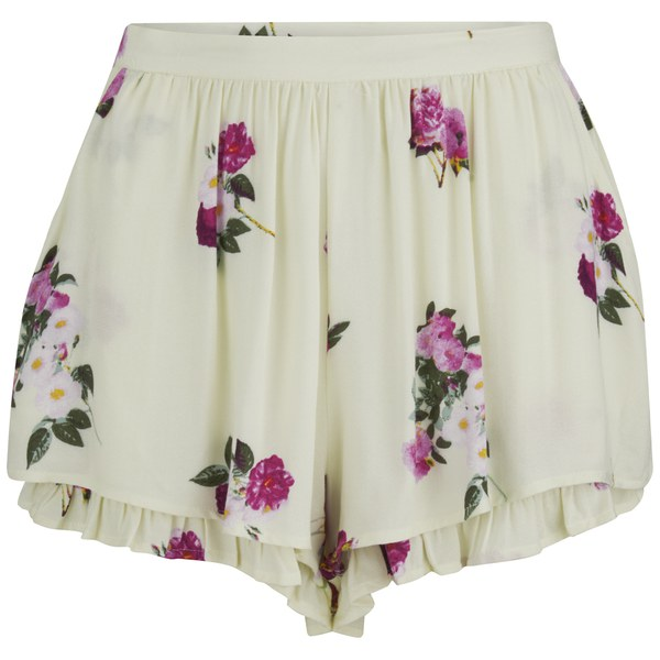 MINKPINK Women's Pink Petals Shorts - Multi