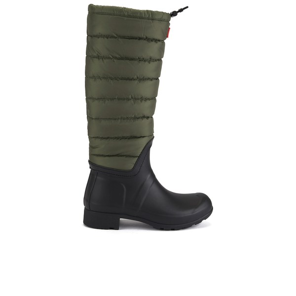 Womens Boots Hunter Original Quilted Leg Swamp Green/Black