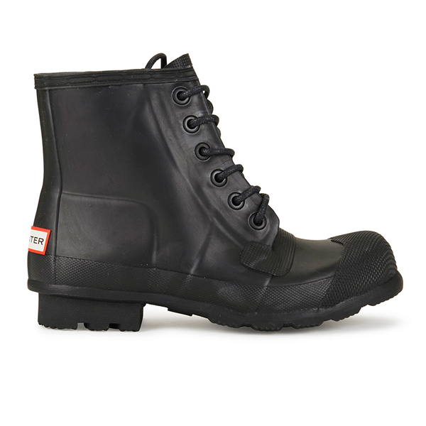 Hunter Men's Original Lace Up Rubber Rigger Boots - Black