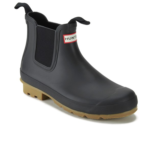 Hunter Men's Original Gum Sole Chelsea Boots - Black: Image 5