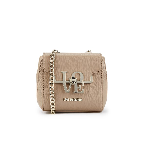 Love Moschino Women S Love Cross Body Bag Taupe Free