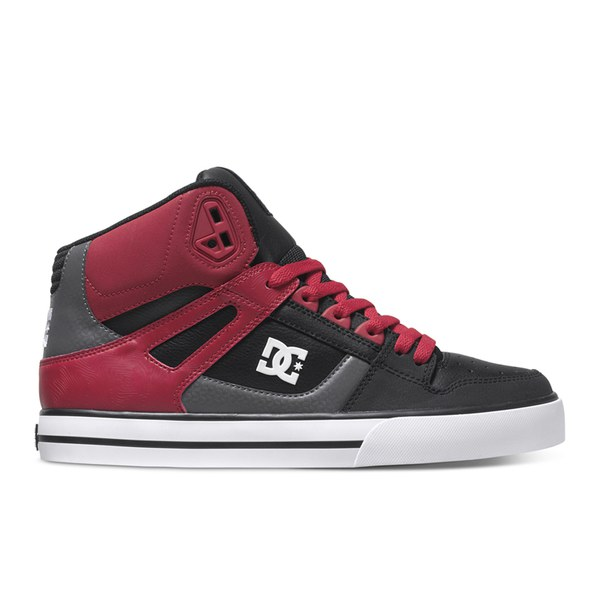 dc shoes high tops red and black. dc shoes men\u0027s spartan high top trainers - red/black/grey dc tops red and black x