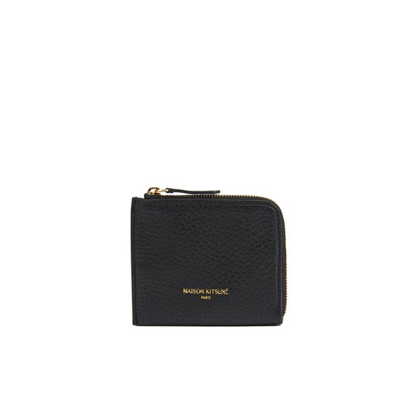 Maison Kitsuné Leather Coin Purse - Black