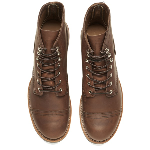 Red Wing Mens 6 Inch Iron Ranger Toe Cap Leather Lace Up Boots