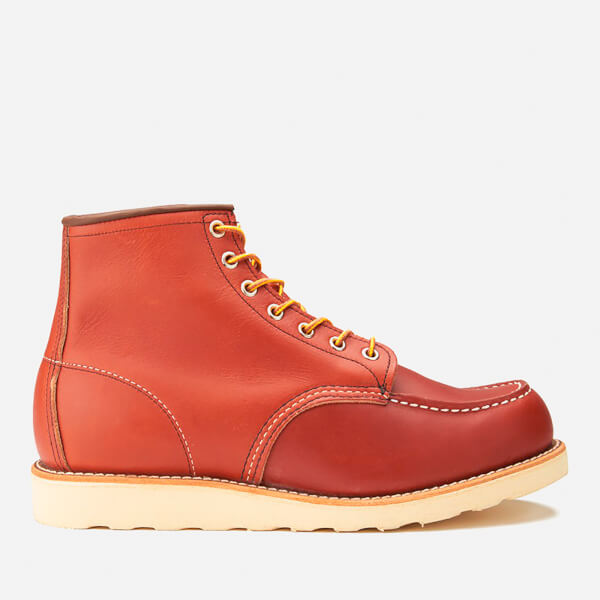 Red Wing Men's 6 Inch Moc Toe Leather Lace Up Boots - Oro Russet Portage - UK 7/US 8 - / Mdp6vEmEk