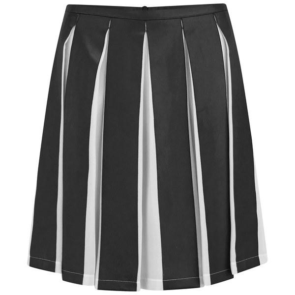 Sonia by Sonia Rykiel Women's Jupe Pleated Skirt - Ecru/Black