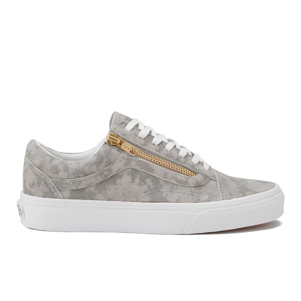 Vans Women s Old Skool Zip Marble Suede Trainers - Khaki True White  Image 1 8226f3dbbb