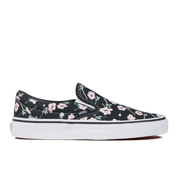 8b733fb7634018 Vans Women s Classic Slip-On Vintage Floral Trainers - Blue Graphite ...