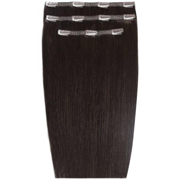 Extensions de cheveux à clip Deluxe 18 pouces de Beauty Works -Ébène1B