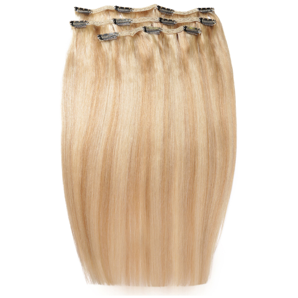Extensiones de cabello Deluxe Clip-In de 45,7 cm de Beauty Works - Rubio California 613/16