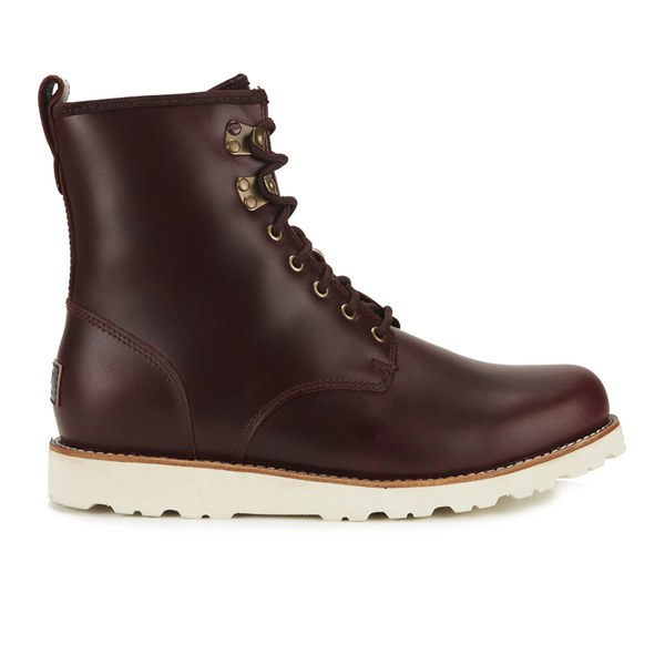 UGG Men's Hannen TL Waterproof Leather Lace Up Boots - Cordovan