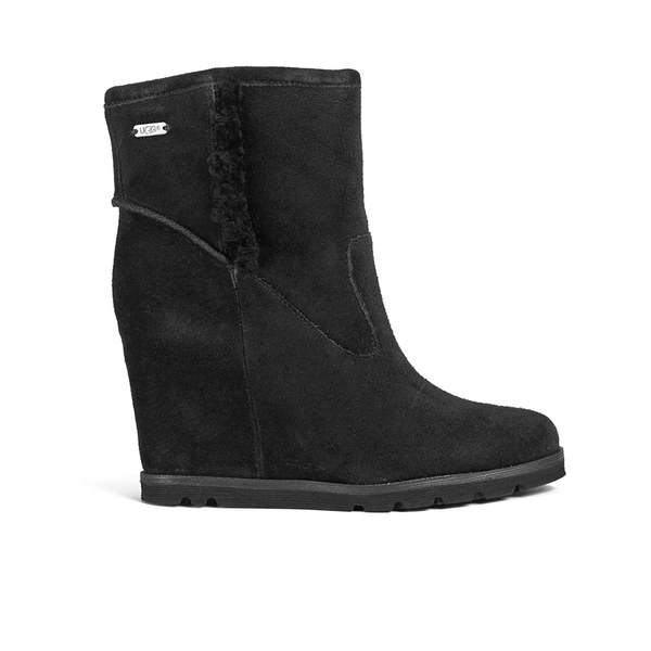 UGG Women's Jade Wedged Heeled Boots - Black: Image 1
