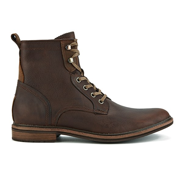 UGG Men's Selwood Lace-Up Leather Boots - Redwood: Image 1