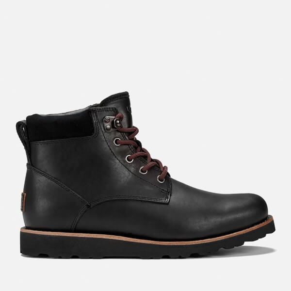 UGG Men's Seton TL Waterproof Leather Lace Up Boots - Black: Image 1