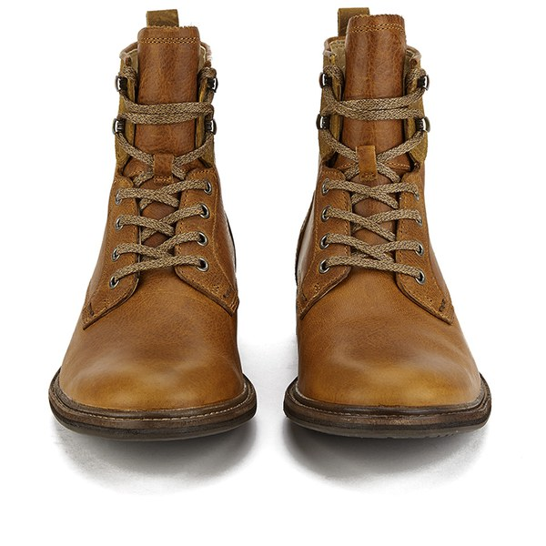 Ugg Men S Selwood Lace Up Leather Boots Chestnut Free