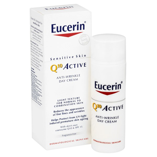 Eucerin® Sensitive Skin Q10 Active Anti-Wrinkle Day Cream SPF 15 (50ml)