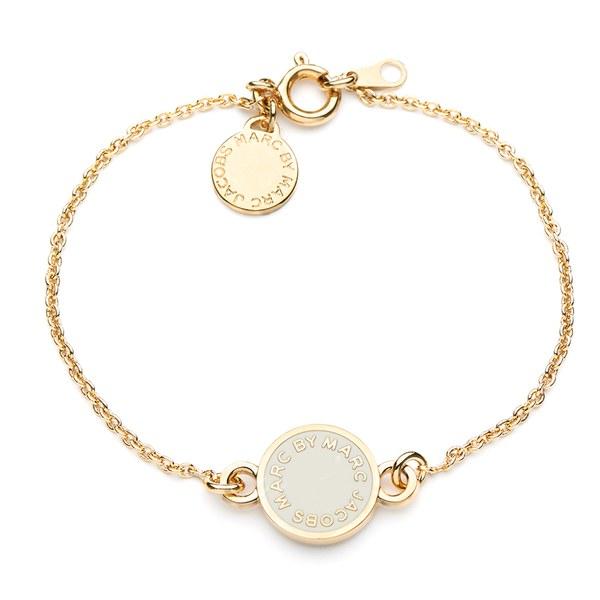 Marc By Jacobs Women S Clic Enamel Discs Bracelet Cream Image 1