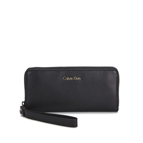 calvin klein large zip around purse