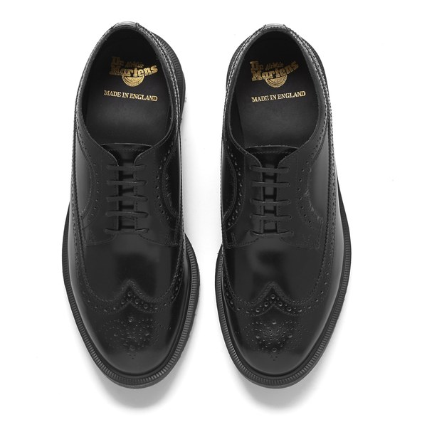 2b86e1d23d2a0 Dr. Martens Men's 'Made in England' 3989 Leather Brogues - Black Boanil  Brush