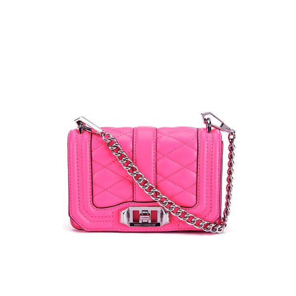 Rebecca Minkoff Women's Mini Love Cross Body Bag - Electric Pink