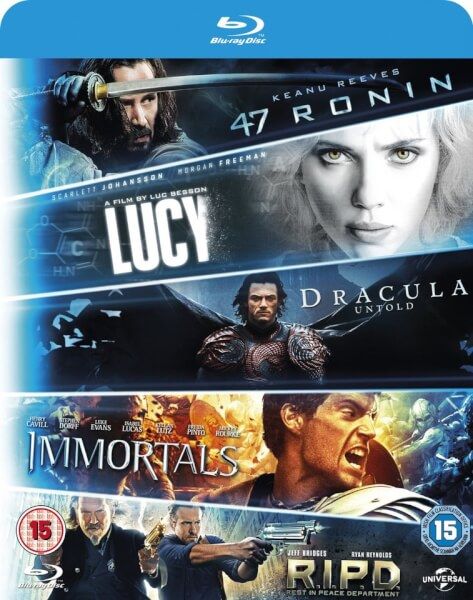 Coffret Starter Lucy, Dracula Untold, 47 Ronin, Immortals, R.I.P.D