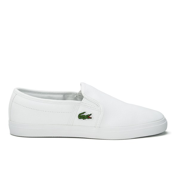 37c682880 Lacoste Women s Gazon Sport HTB Canvas Slip-on Pumps - White  Image 1