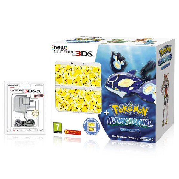 New Nintendo 3ds Pok 233 Mon Alpha Sapphire Pack Nintendo