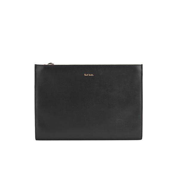 Paul Smith Accessories Women's Triple Zip Leather Clutch Bag - Fawn