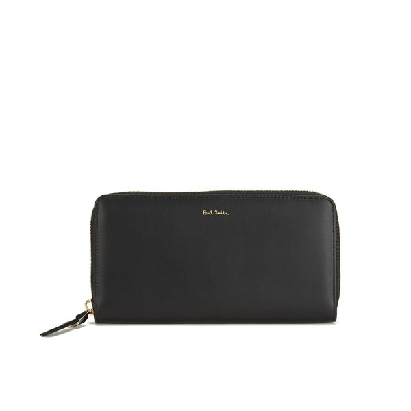 Paul Smith Accessories Women's Large Zip Around Leather Purse - Black