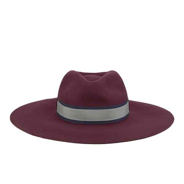 Paul Smith Accessories Women's Wool Felted Fedora Hat - Red