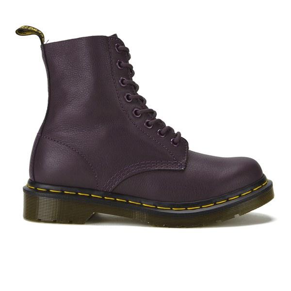 Dr. Martens Women's Core Pascal 8-Eye Virginia Leather Boots - Purple: Image