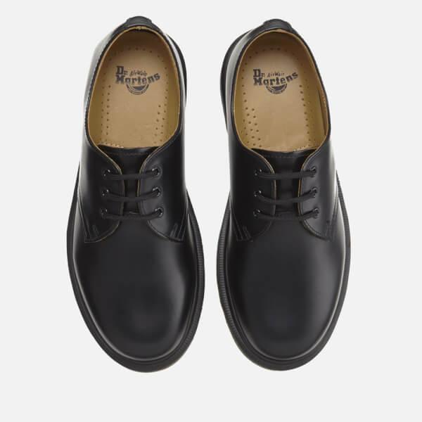 dr martens 1461 pw smooth leather 3 eye shoes black clothing. Black Bedroom Furniture Sets. Home Design Ideas