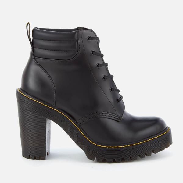 dcb2e502625 Dr. Martens Women s Persephone 6-Eye Padded Collar Heeled Boots - Black   Image