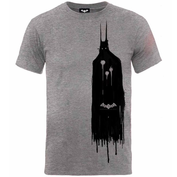 DC Comics Men's Batman Arkham Knight Sketch T-Shirt - Grey