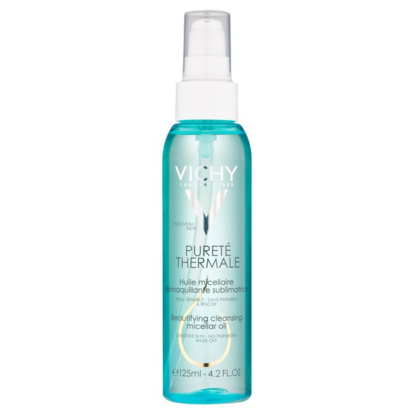 Vichy Pureté Thermale Beautifying Cleansing Micellar Oil Cleanser, Paraben-Free, Alcohol-Free, 4.2 Fl. Oz.