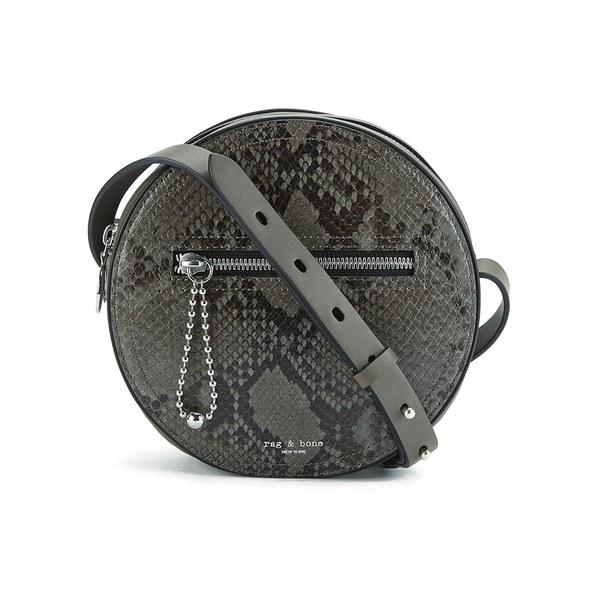 rag & bone Women's Circle Bag - Asphalt Python