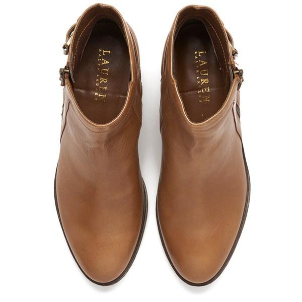 Lauren Ralph Lauren Women S Shelli Leather Ankle Boots