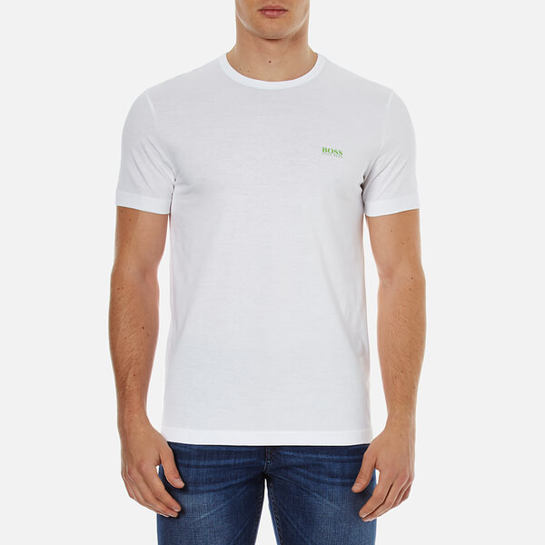 BOSS Green Men's Chest Logo Basic T-Shirt - White