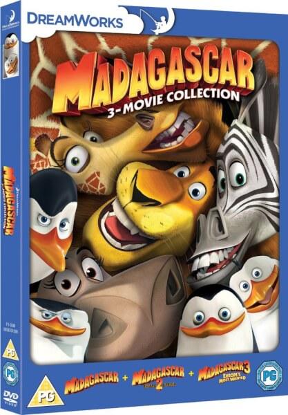 Madagascar 1 3 Dvd Zavvi