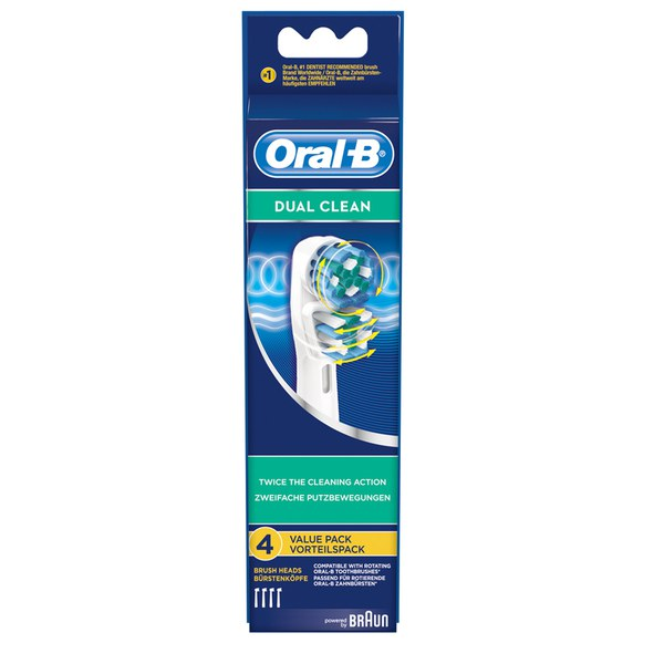 Oral-B Dual Clean Toothbrush Head Refills (x4)